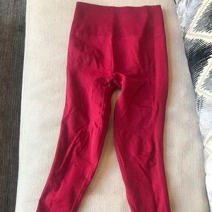 Lulu lemon red spandex leggings
